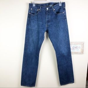 Levi's 501 Button Fly Long Tall Denim Jeans 34